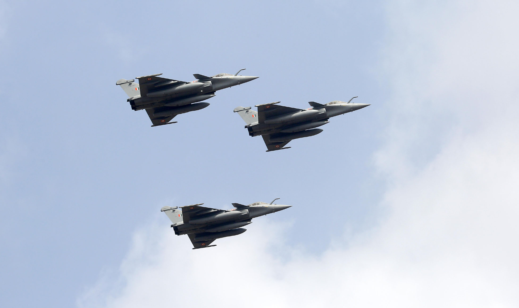 Glimpse of the Aero India-2021 biennial Air Show, at the Air Force Station, Yelahanka, in Bengaluru on February 03, 2021.