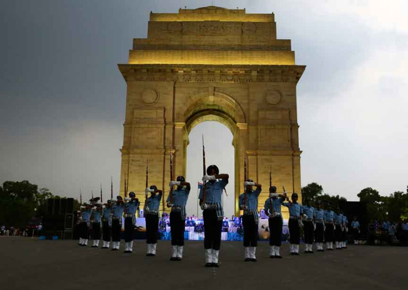 Air Warrior Symphony Orchestra and Drill Team performed At India Gate