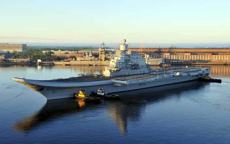 Sea Trials of India's Aircraft Carrier Vikramaditya (Gorshkov)