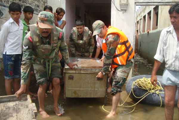 Army on Flood Relief duties