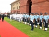 French Minister of Defence, Mr Jean-Yves Le Drian, receiving Guard of Honor given