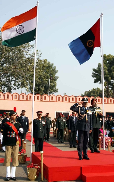 Air Chief Marshal NAK Browne reviewing the Guard of Honour