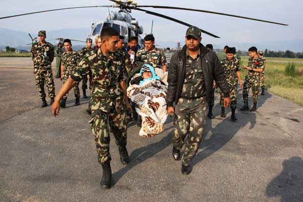 Who feels envy to India's relief work in Nepal?