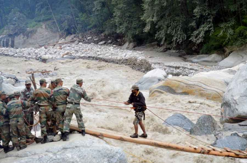 Rescue from Pindari Glacier