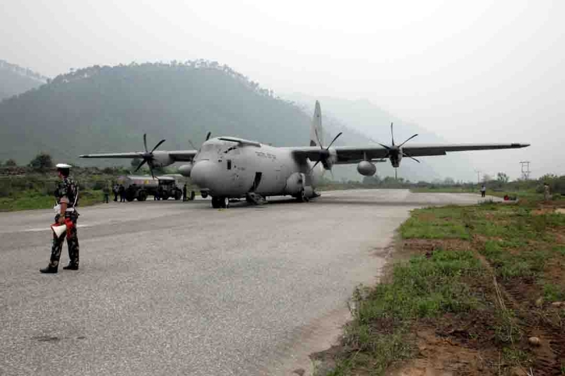Three C 130J join 'Op Rahat'