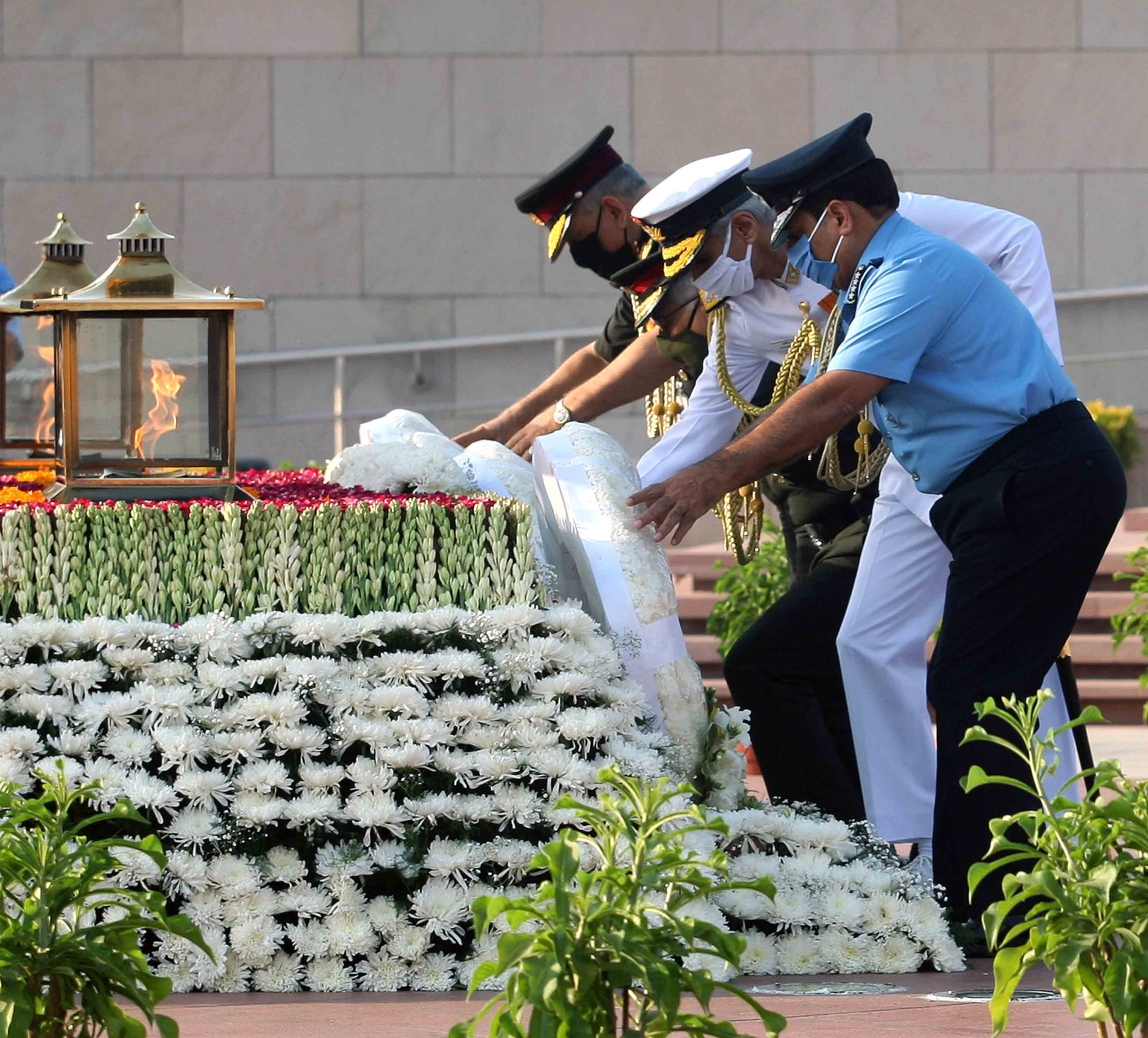 Wreath laying at National War Memorial on the occasion of AFDP 2020