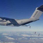 Airbus CEO and OCCAR Programme Manager join parachutists in jump from A400M