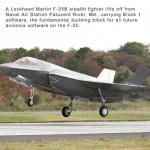 Lockheed Martin F-35 begins flying Block 1 Software