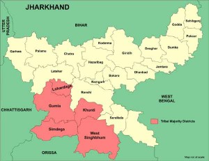 Map_Jharkhand_Tribal_Majori