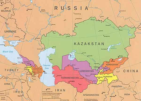 Central Asia Map Game | american maps