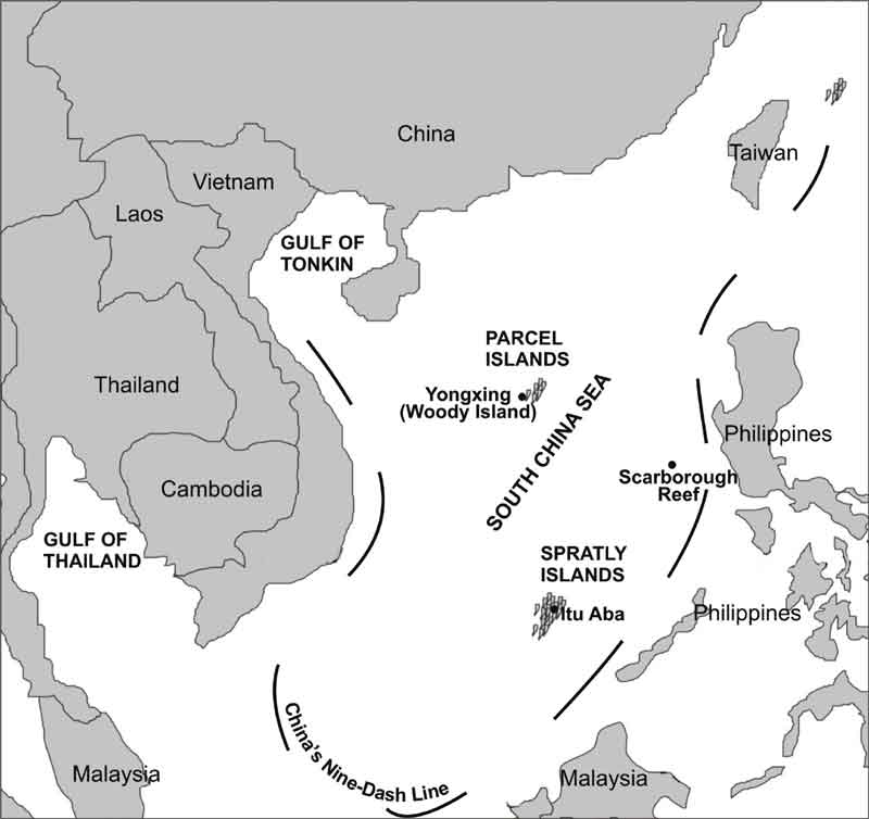 Disputes in the south china sea indian defence review chinas nine dash line publicscrutiny Images