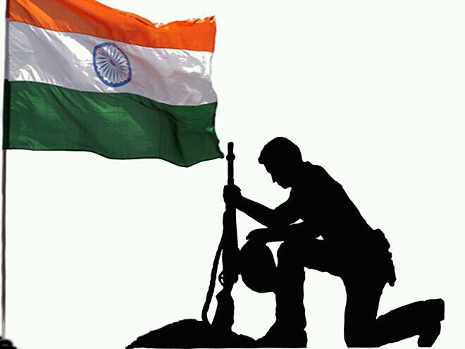 Issue Vol  28 1 Jan-Mar 2013  By Bharat VermaIndian Army Soldier With Flag