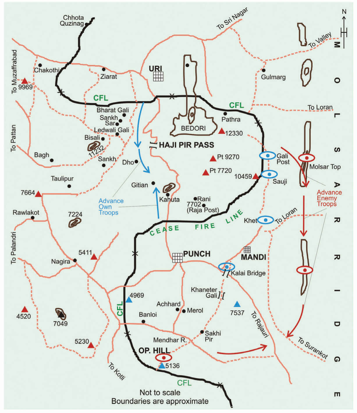 map jammu and kashmir hajipir pass Specific Importance Of Punch Indian Defence Review map jammu and kashmir hajipir pass