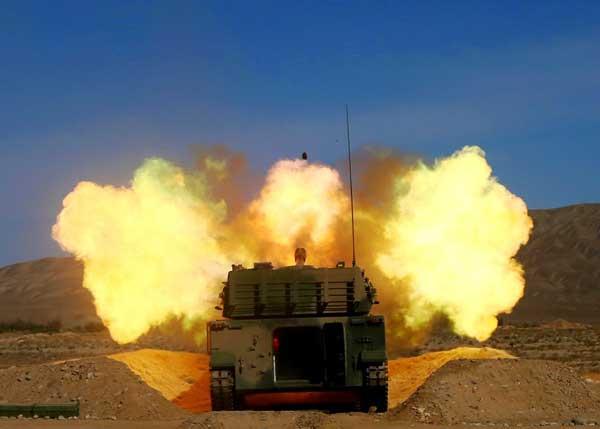 Frecuentes ejercicios militares  con fuego real en el Tíbet alarman a la India  PLA-firing-2