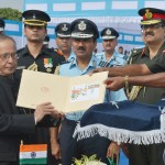 President Awards Standards to 115 Helicopter Unit and 26 Sqn of IAF