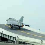 LCA (Navy) Successfully Ski Jumps on an Aircraft Carrier Simulated Deck
