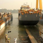 Landing Craft Utility Ship for Indian Navy Launched at Garden Reach Shipbuilders and Engineers Ltd (GRSE)