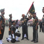 Colours Presented to 20 Madras and 21 Madras by General Dalbir Singh