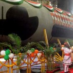 Indian Navy's first Scorpene Submarine Kalvari 'Undocked'