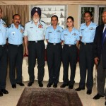 Marshal of the Air Force Arjan Singh DFC, Felicitates Three Women Fighter Pilots