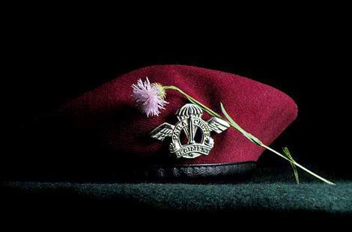 Image result for maroon beret worn in india