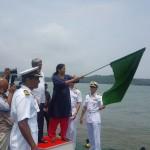 Raksha Mantri Flags off Navika Sagar Parikrama