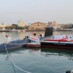Commissioning of INS Karanj, the third Indian Kalvari-class submarine...
