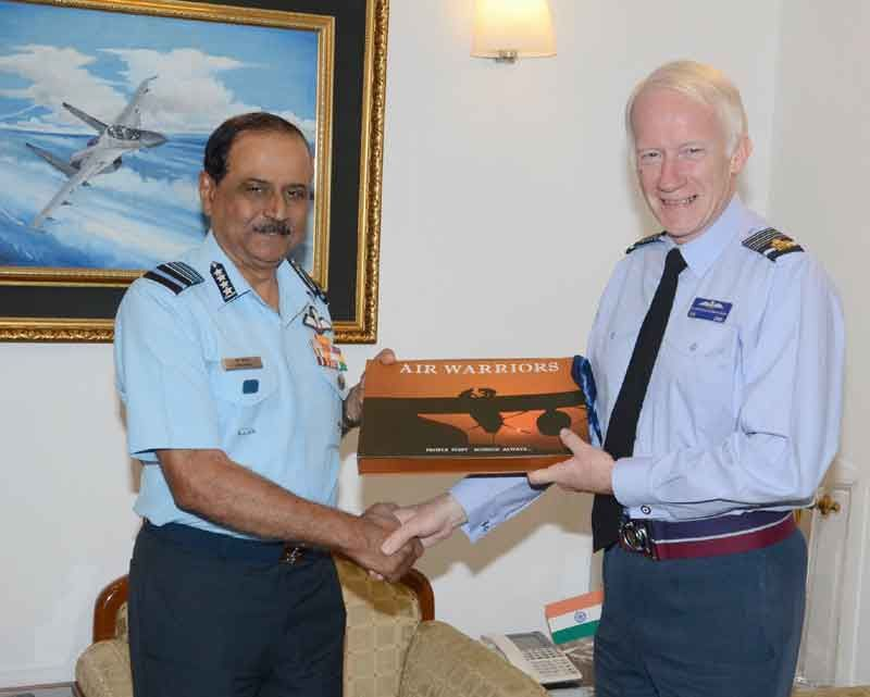Air Chief Marshal Sir Stephen Dalton Calls on Air Chief Marshal NAK Browne