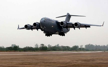 First C 17 Touches Down in India