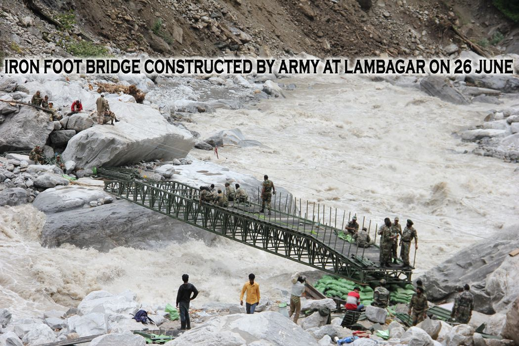 Iron Bridge Constructed by Army at Lambagar by Central Army Command.