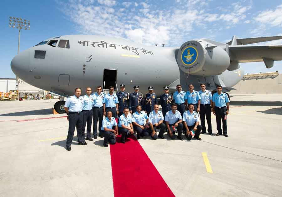 Air Chief Marshal NAK Bowne at C-17 acceptance ceremony