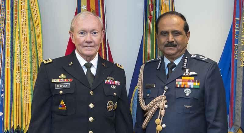 IAF Chief Air Chief Marshal NAK Browne met General Martin Dempsey