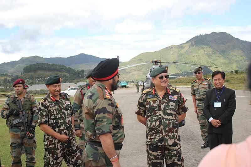 General Bikram Singh with Nepalese Army Chief