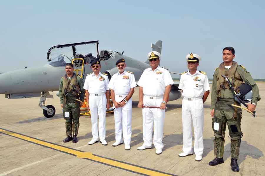 Indian Navy inducted its first Advance Jet Trainer (AJT) Hawk 132