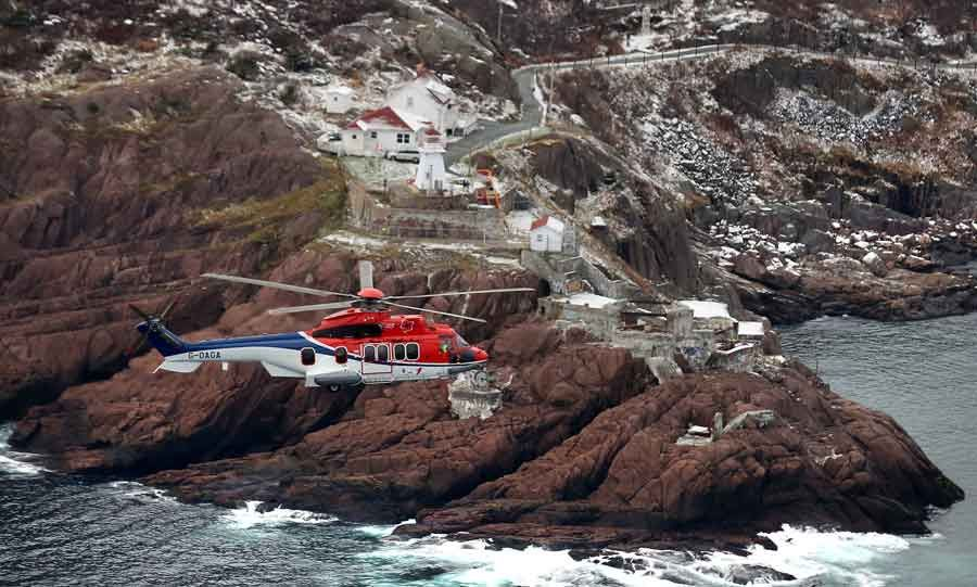 Eurocopter demonstrates EC225 helicopter's capabilities for the offshore oil and gas industry