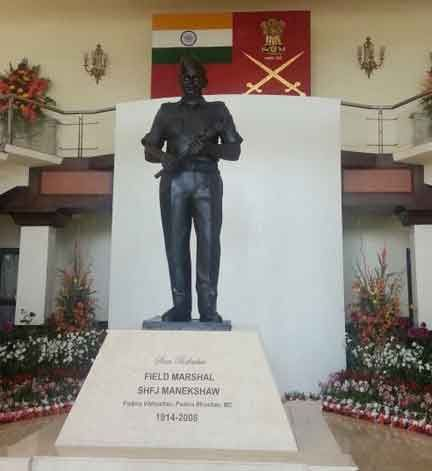 The statue of Field Marshal Sam Manekshaw