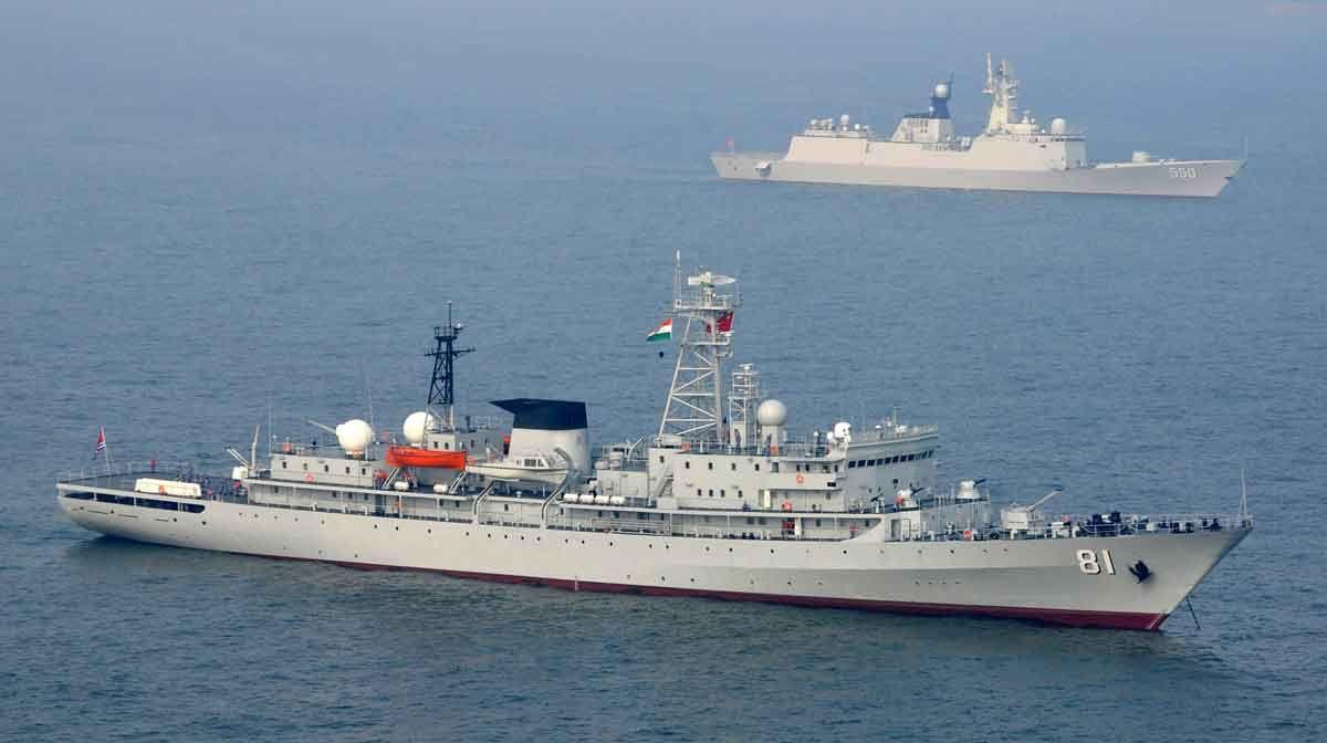 Chinese Navy Ships at Visakhapatnam
