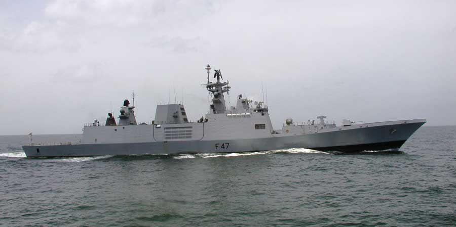INS Sahyadri makes Port call at Darwin, Australia