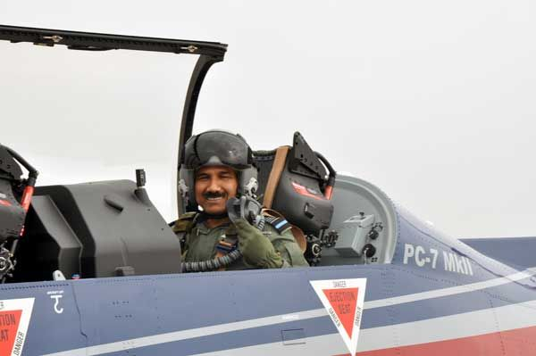 Air Chief on a sortie in Basic Trainer Pilatus PC7 MKII