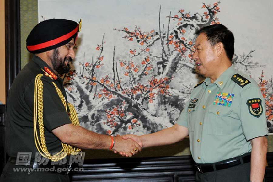 Senior Chinese military official meets Indian Army Chief