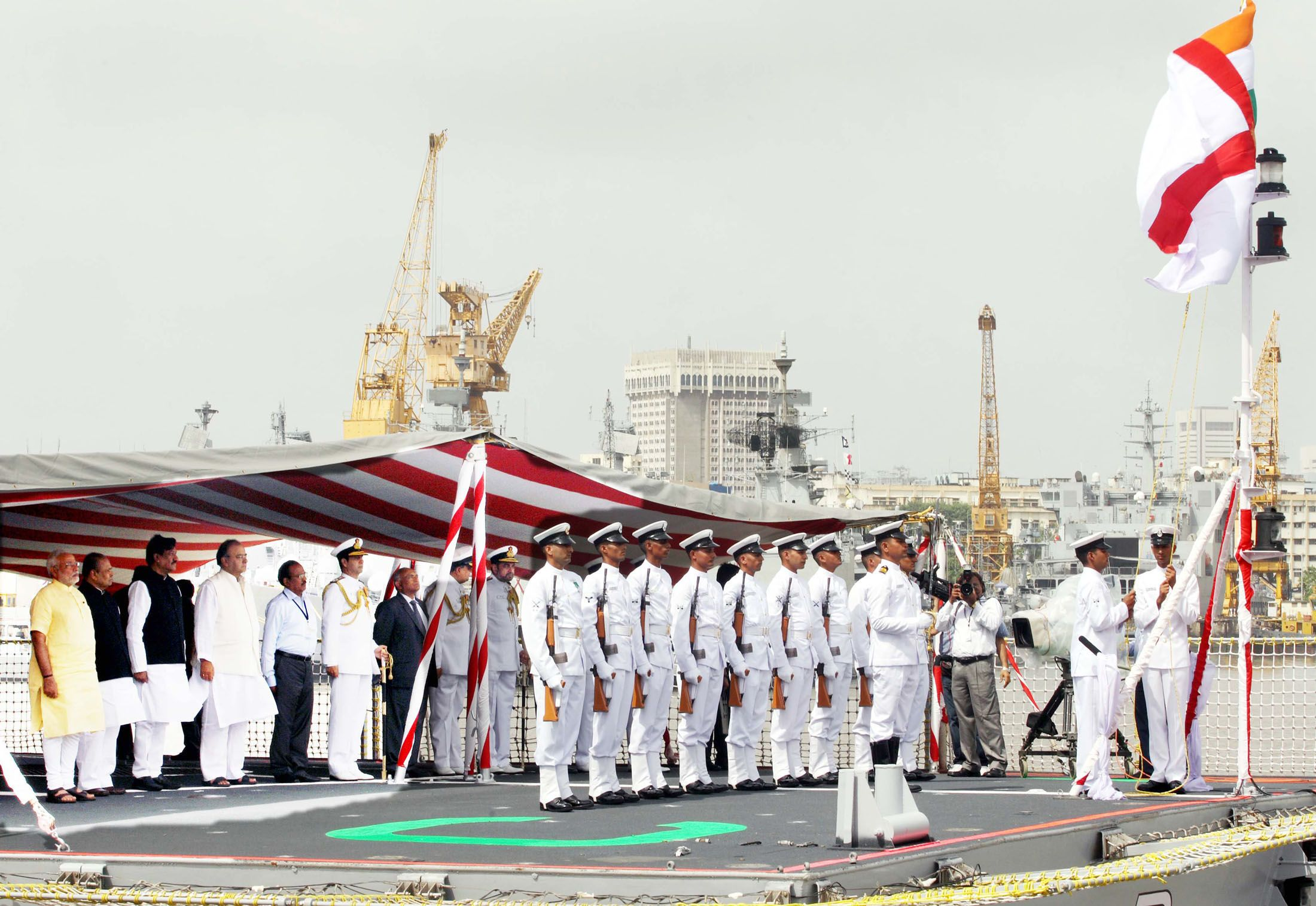 INS Kolkata commissioned into the Indian Navy.