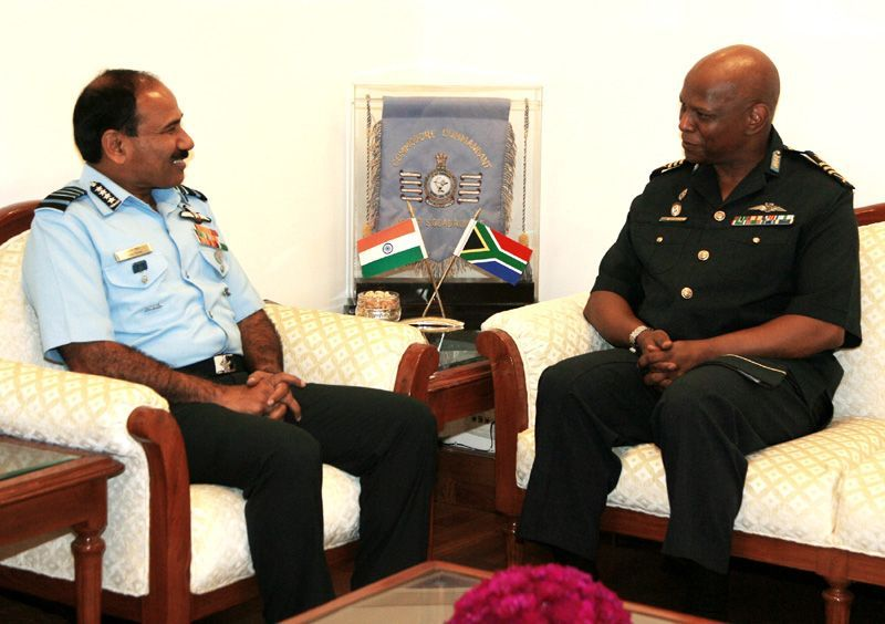 Visit of the Chief of Air Force, South Africa, Lt Gen Fabian Zimpande (Zakes) Msimang