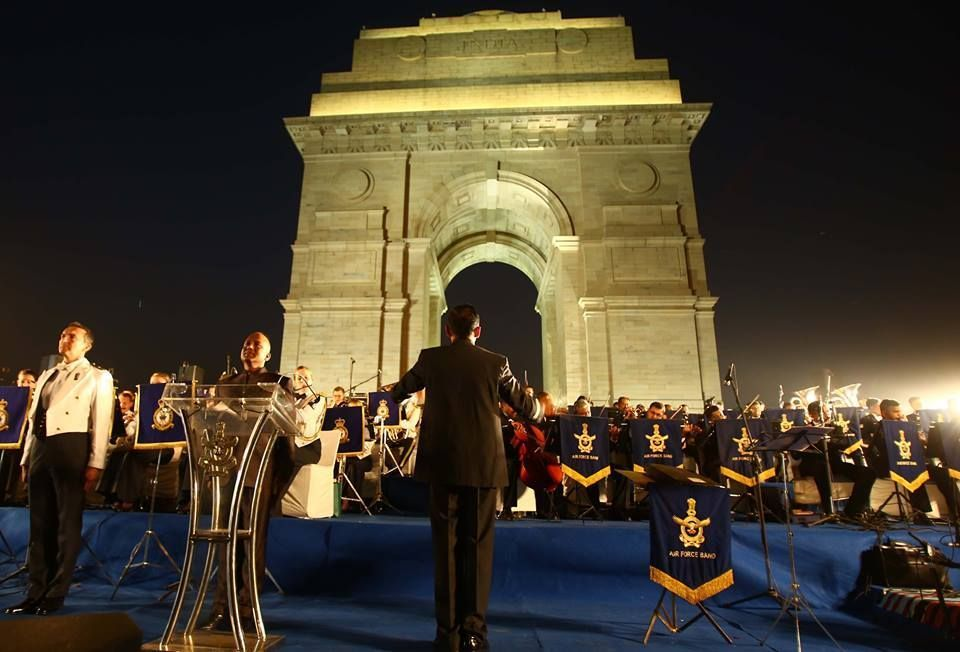 A Scintillating joint Band Performance by the Royal Air Force And Indian Air Force Mesmerises audience at India Gate