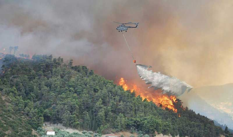 MI-17 V5 fire fighting operations in Visakhapatnam.