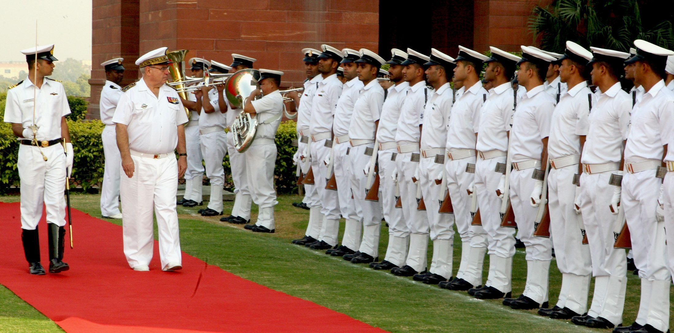 French Navy Chief in India