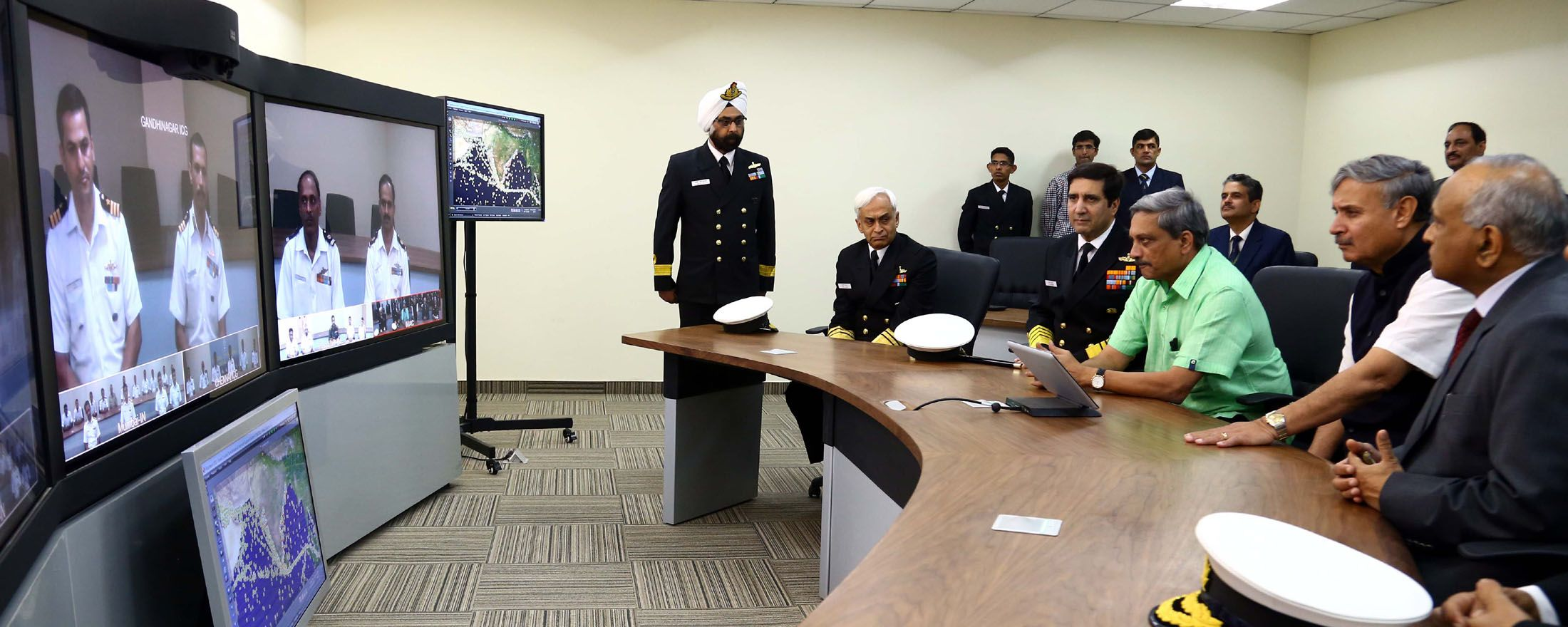 Defence Minister Shri Manohar Parrikar Inaugurates IMAC, a Navy-CG Joint Operations Centre