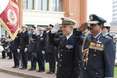 Air Chief Marshal NAK Browne, Chief of the Air Staff and General Jean-Paul Paloméros, Chief of Staff of the French Air Force