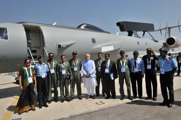 Prime Minister Narendra Modi at the Aero India-2015