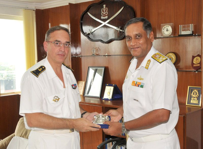 French Naval Ships Dixmude and Aconit Visit Visakhapatnam