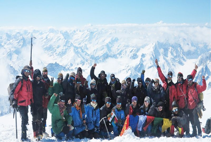 NCC Girls' Expedition Flagged in after Scaling Mt Deo-Tibba
